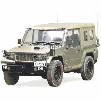 陸上自衛隊 73式小型トラック(新型) 警備車輌改 1/35 レジンキット ...