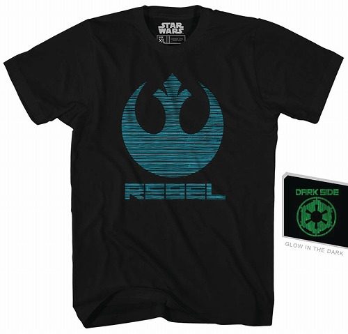 STAR WARS DOUBLE AGENT PX BLACK GID T/S XL/ APR172414