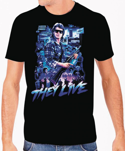 THEY LIVE COLLAGE BLACK T/S LG/ JUL172751