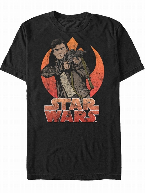 Star Wars Poe Dameron Resistance Mens Graphic T-shirt SIZE S