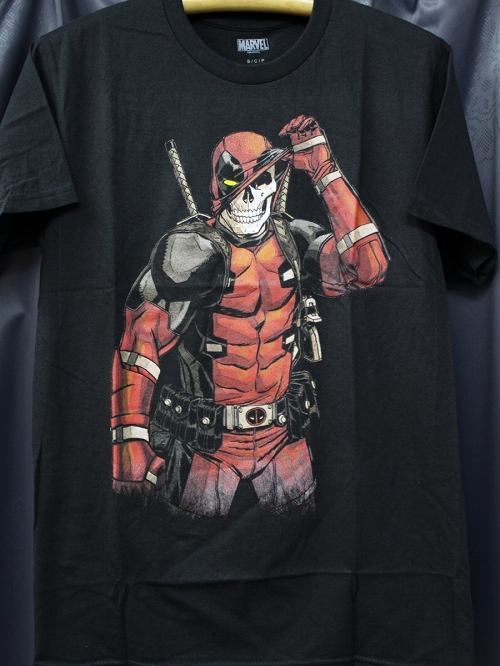 DEADPOOL SKULL BLACK PX T/S MED / FEB182156