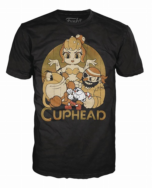 POP TEES CUPHEAD AND BOSSES BLACK T/S 2XL / FEB182480
