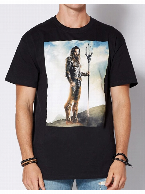 DC Comics Justice League Aquaman Movie Poster Tシャツ US Mサイズ