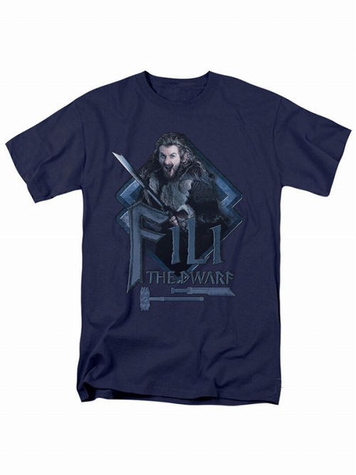 The Hobbit Fili the Dwarf t-shirt Navy SIZE M