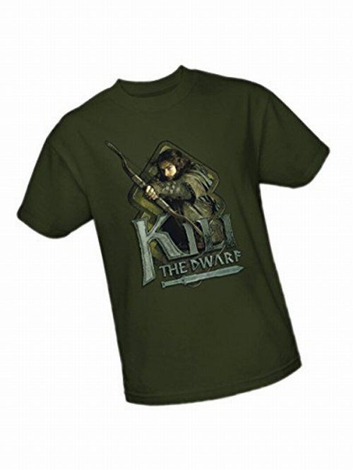 The Hobbit Kili the Dwarf Bow Green T-shirt SIZE L
