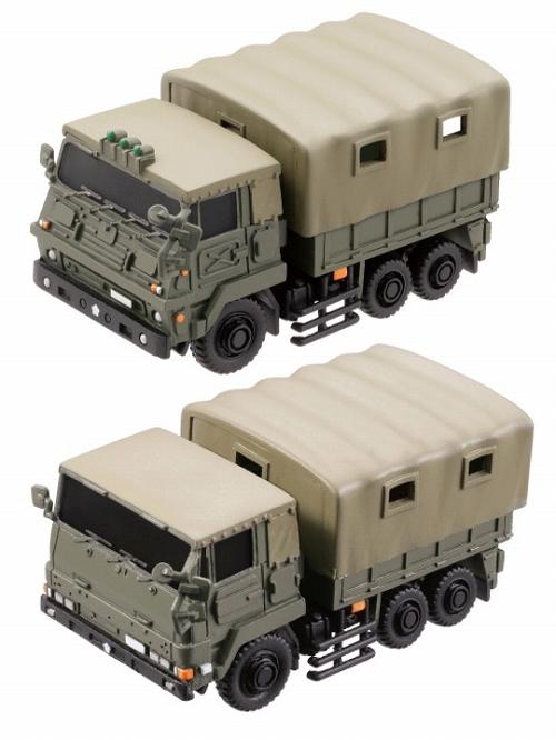 陸上自衛隊 73式大型トラック 3トン半 新旧2台セット/ ミリタリー ...