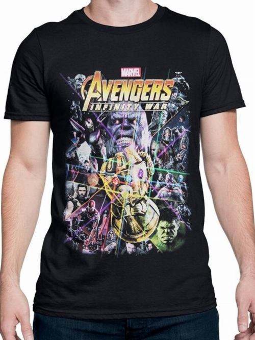 AVENGERS IW MOVIE POSTER BLACK T/S LG / MAY183104