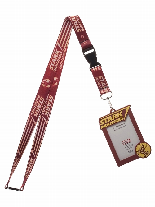 Marvel Iron Man Stark Industries Lanyard with ID Holder New