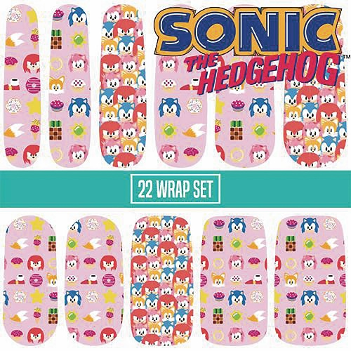 SONIC THE HEDGEHOG CANDY POP NAIL WRAPS SET  / JAN193184