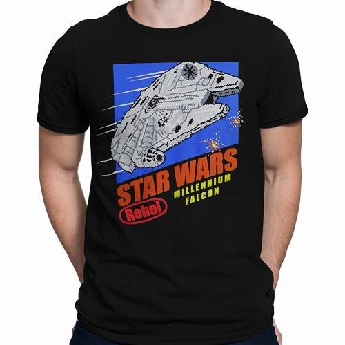 Star Wars 8-Bit Millennium Falcon Men's T-Shirt US SIZE M