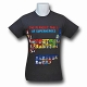 DC Universe Periodic Table T-Shirt US SIZE L