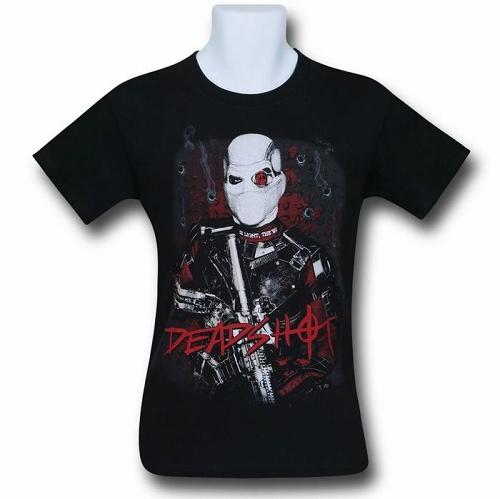 Suicide Squad Deadshot Bullet Holes Men's T-Shirt US SIZE M