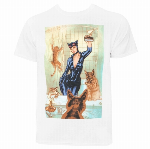 Catwoman Selfie Comic Men's T-Shirt US SIZE L