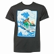 Aquaman Shark Surfing Men's T-Shirt US SIZE L