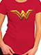 Wonder Woman Justice League Logo T-Shirt US Women's SIZE S