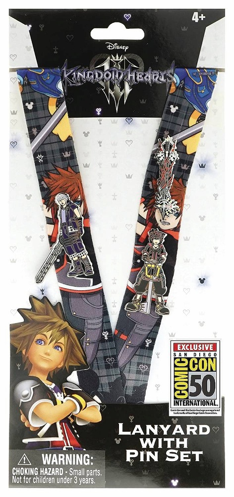 KINGDOM HEARTS CON EXCLUSIVE LANYARD W/3PC PIN SET / OCT193253