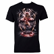 Iron Spider Civil War Spider-man Black T-Shirt size L