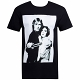 Star Wars Luke And Leia Grayscale Black T-Shirt size M