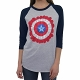 Captain America Flower Baseball T-Shirt ladies size XS