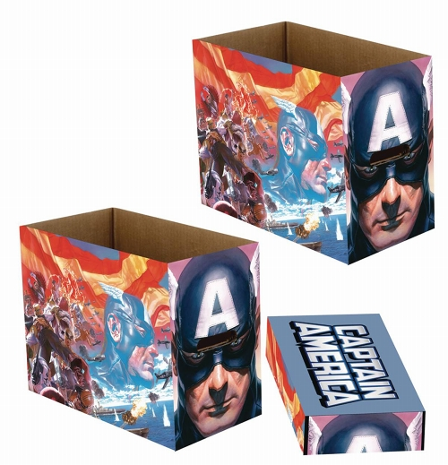 MARVEL CAPTAIN AMERICA PATRIOT 5PK SHORT COMIC STORAGE BOX / JAN202991