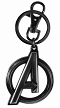 BLACK WIDOW AVENGERS LOGO PEWTER KEY RING / JUL202550