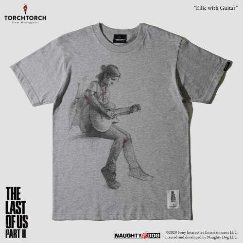 THE LAST OF US PART II × TORCH TORCH/ エリー with ギター Tシャツ ヘザーグレー Lサイズ