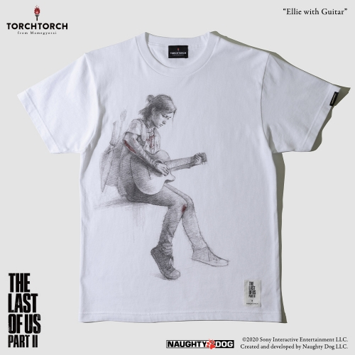 THE LAST OF US PART II × TORCH TORCH/ エリー with ギター Tシャツ ホワイト XLサイズ