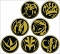 POWER RANGERS COINS 144PC BUTTON ASST DIS / JAN212561