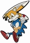 SONIC THE HEDGEHOG SONIC AND TAILS FLYING PIN / JAN212584