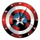 MARVEL CAPTAIN AMERICA SHIELD 13.5IN WOOD WALL CLOCK/ OCT193191 - イメージ画像1