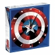 MARVEL CAPTAIN AMERICA SHIELD 13.5IN WOOD WALL CLOCK/ OCT193191 - イメージ画像2