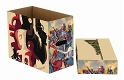 MARVEL WEB WARRIORS 5PK SHORT COMIC STORAGE BOX (O/A) / DEC192924 - イメージ画像1